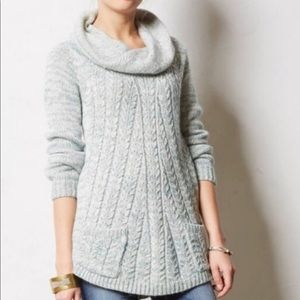 Anthropologie Guinevere Cabled Cowl Sweater